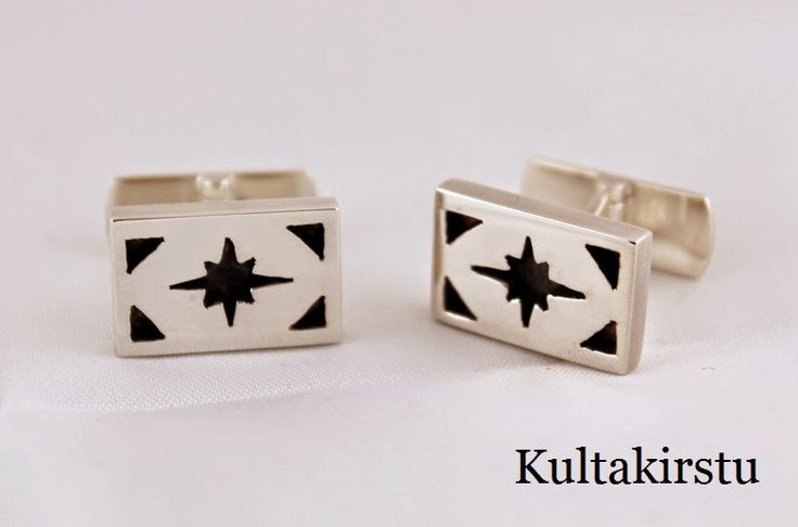 Kalvosinnapit hopeasta - Cufflinks from silver