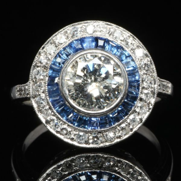 2 CTW Diamond and Sapphire Fashion Ring.  Find out about our enormous selection of wholesale engagement rings to choose from.  Find out more about our service by visiting http://diamondexchangedallas.com/engagement-rings-dallas