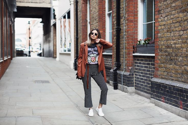 Photos taken by @maccyb  from Girl in the Lens     Fashion Union blazer  | Mango trousers  | Whistles trainers  | Sai...