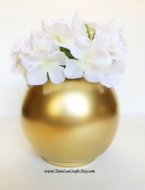 Wedding Centerpiece Round Vase Baptism Centerpiece Home Things To
