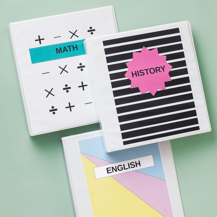 Turn blah, boring binders into something fun and fantastic with these great ideas. Avery View Binders feature clear slipcovers that are easy to spruce up in a snap. Find your favorite free design templates on Avery Design & Print, customize with your school subjects and print each cover out on a full sheet of paper. Not sure about settling down with one style? Don't fret. Covers are easy to change out with a simple swoosh.