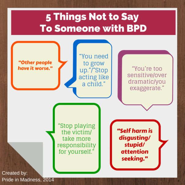 5 Things Not to Say to Someone With BPD