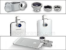Portable Clip-On Mobile Phone Camera Lens (Wide Angle   Marco   Fisheye Lens)