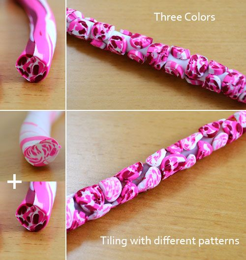 Polymer clay pens - this would work good to cover crochet hooks too!!
