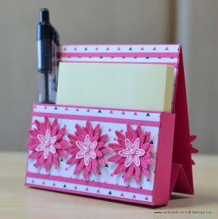 video tutorial free standing post it note holderJanB Handmade Cards Atelier