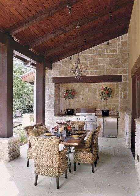 Tavoli Da Giardino In Muratura.Cucine Da Esterno In Muratura Casa Cucine Da Esterno