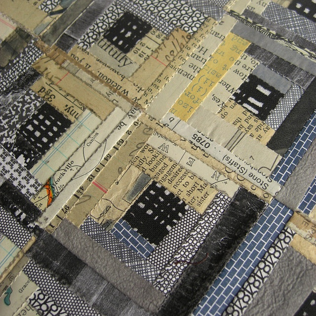 paper log cabin  This can easily be created using Mod Podge and scrapbook papers!: