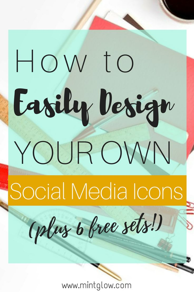 Step-by-step tutorial. Design your own social media icons quickly and easily using Adobe Photoshop!