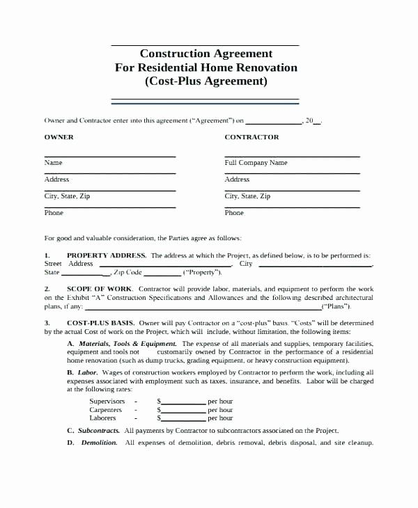Residential Construction Contract Template Best Of Sample Residential Construction Schedule Ele Contract Template Construction Contract Medical Resume Template