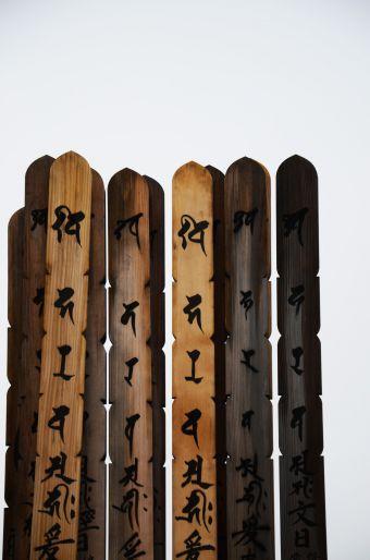 Asakusa è il più antico cimitero di Tokyo, però non immaginatelo come un luogo triste perchè qui nei week end le famiglie, le coppie di fidanzati vengono a prendere il fresco, a fare il picnic, si danno appuntamento, specialmente nella stagione in cui fioriscono i ciliegi. Qui c'è la tomba dell'Ultimo Samurai, quello portato sul  grande schermo da Tom Cruise. Ogni tomba presenta queste bacchette in legno che recano incisi il nome  e la storia della persona che commemorano  (Photo Bergamin)