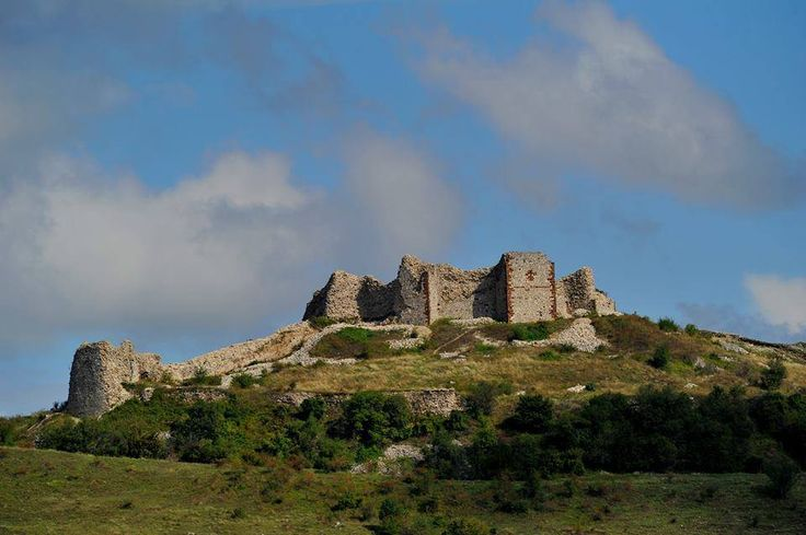 Remains of upper castle at Medieval Serbian fortress Novo Brdo, 14th-15th century, most important urban, trade and mining center of Medieval Serbia, Kosovo and Metohija province, present-day southern Serbia.