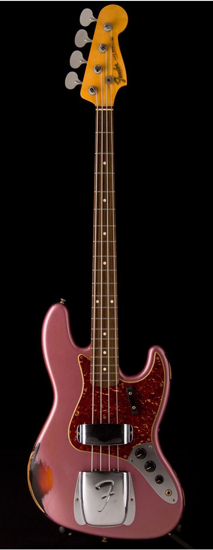 FENDER Custom Shop 1964 J Bass Relic  Burgandy Mist Metallic over 3-Tone Sunburst | Guitar Center