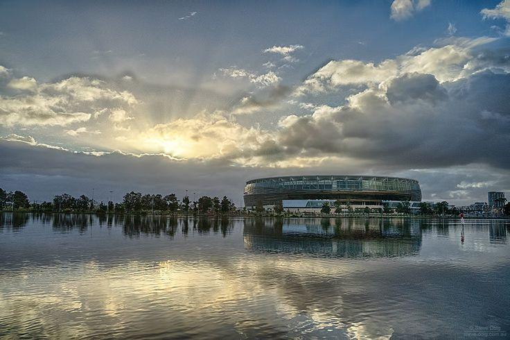 #sunrise over East #Perth & #PerthStadium #thisisWA