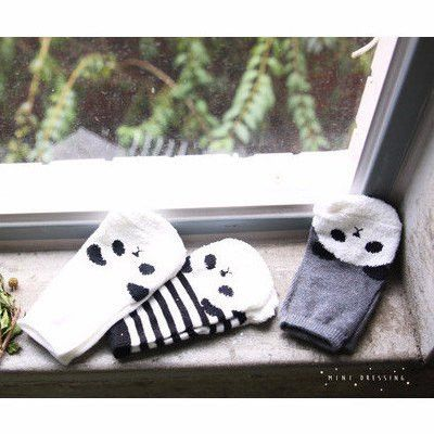 Mini Dressing - Panda socks (Set of 3)