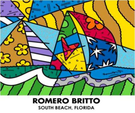"Romero Britto ""Sailing"""