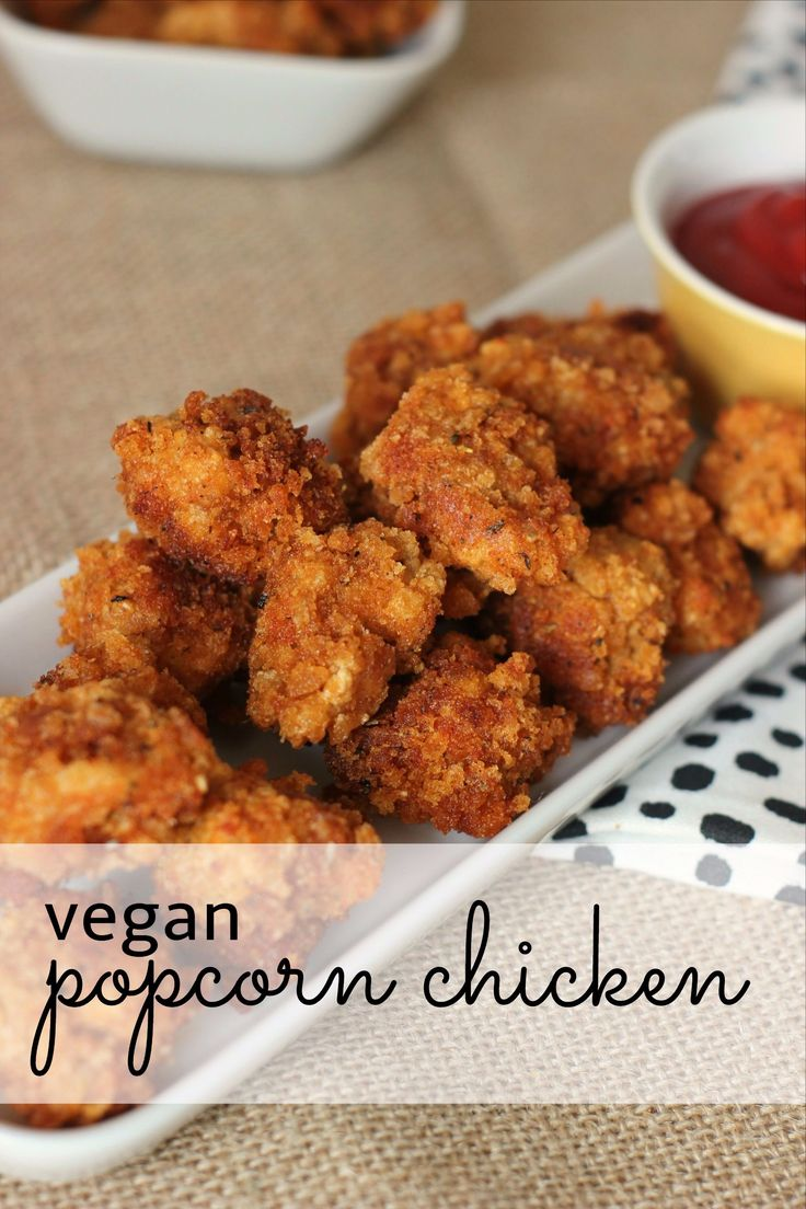VEGAN popcorn chicken recipe - for days when only salty, fried food will do!