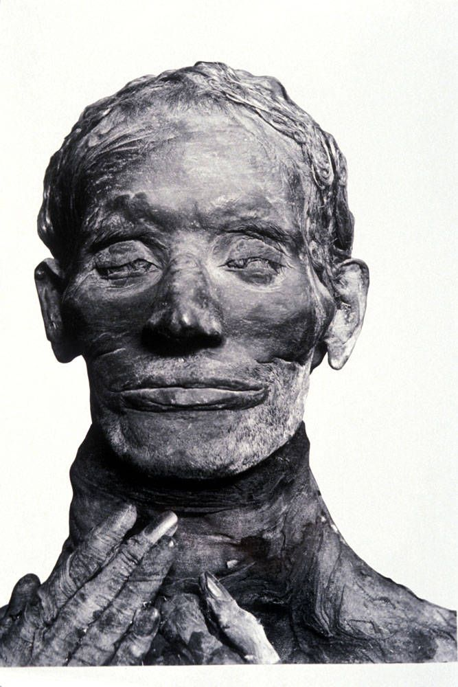 Nordic white features ~ Mummy of Yuya - Cairo Museum, Egypt - White Nordics ruled Egypt for thousands of years. http://marchofthetitans.com/vol1chap8.htm