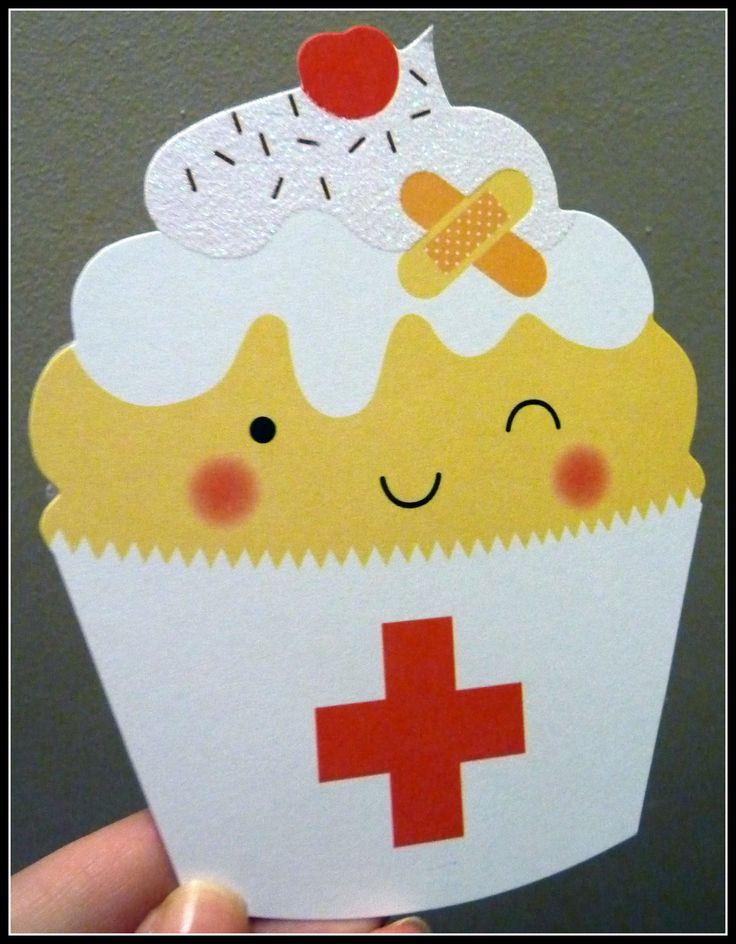 Get Well Cupcake Card get better soon so you can come for dinner!!!!!