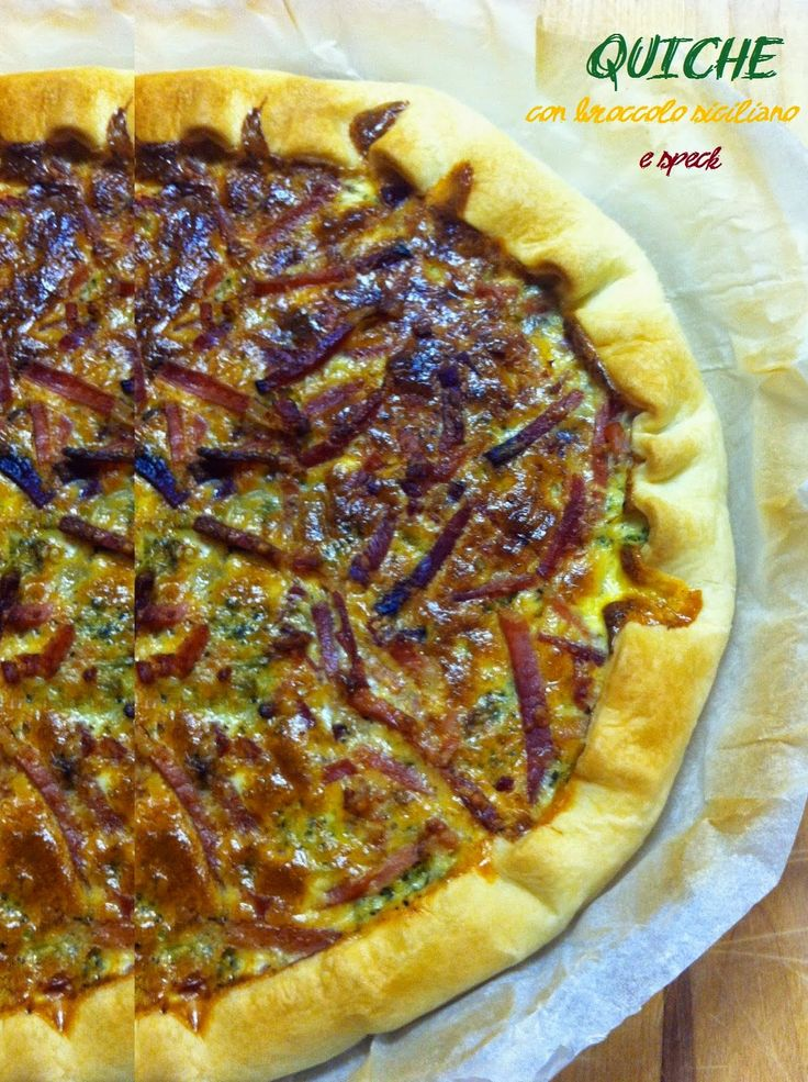 SQUISITO: QUICHE CON BROCCOLO SICILIANO E SPECK