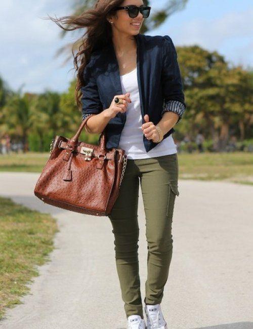 5ac93ace8 Women s Military Style Khaki Pants