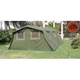 MULTIPURPOSE COLLECTIVE POST FRAME TENT - 100% COTTON CANVAS  Dimensions Dimensions6 x 4 M, 8 x 5 M Useable Area24 M2, 40 M2 Center Outer Tent Height2.50 M Wall height1.80 M