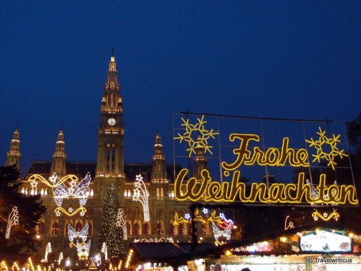 Christmas market at the city hall of Vienna
