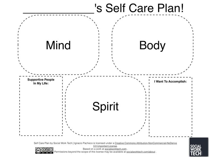 Social Work Worksheets : Social work tech making a self care plan on ipad
