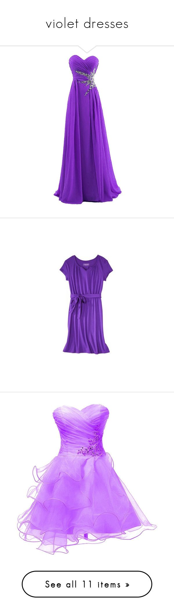 """""""violet dresses"""" by milly-love16 ❤ liked on Polyvore featuring dresses, gowns, long dresses, purple, robes, beaded evening gowns, purple gown, purple ball gowns, chiffon prom dresses and sweetheart neckline prom dress"""