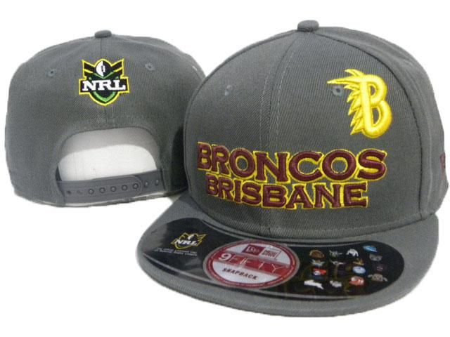 New Era x NRL Brisbane Broncos 9fifty Grey Snapback Hat
