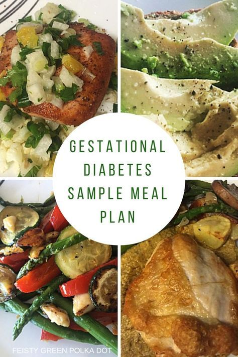 A sample meal plan for people with gestational diabetes.