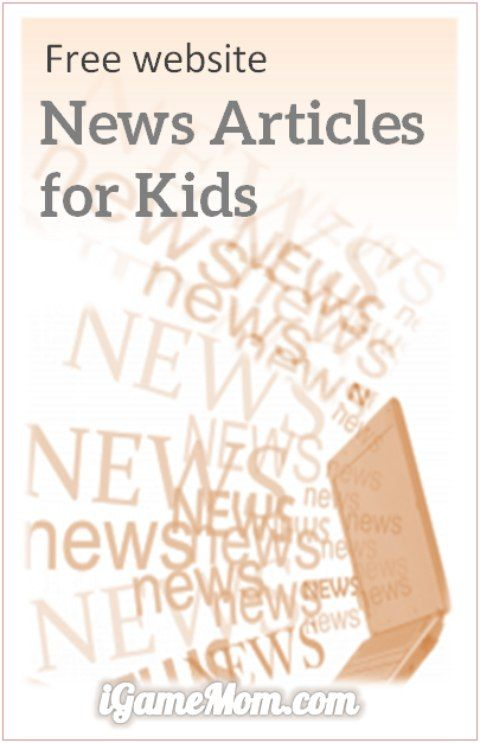 free website of news articles for kids, provides a safe environment for kids to stay updated on what is going on around the world, including world news, science and technology, our earth, society and art.