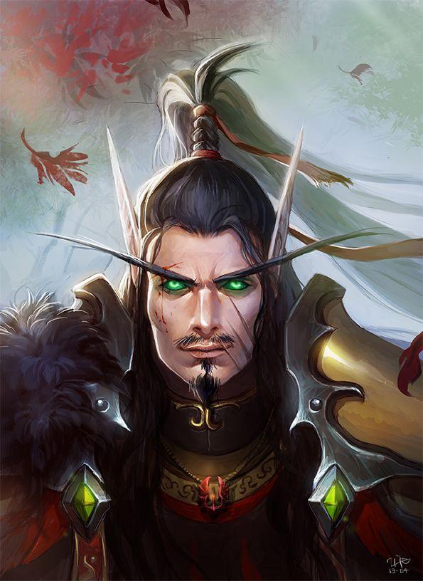 Blood Elf portrait - Sarin'teal Thondroril by ~Minhee-Kim on deviantART