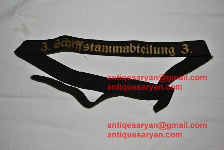 -3. Schiffsstammabteilung der Nordsee 3.  kriegsmarine capband cap band for sale