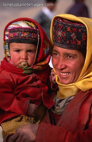 Tajik woman and baby,Xinjiang, China, Asia. * 1500 free paper dolls at international artist Arielle Gabriels The International Paper Doll Society also free Chinese paper dolls The China Adventures of Arielle Gabriel *