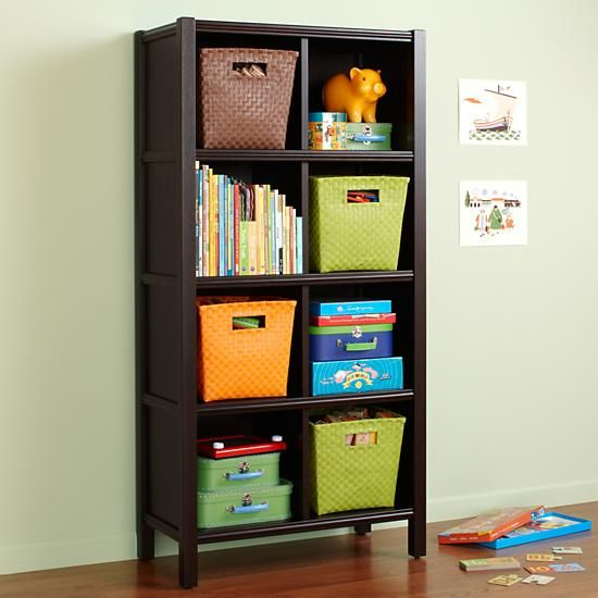 the land of nod kids bookcases kids 8 cube espresso wooden bookcase in bookcases ideas for. Black Bedroom Furniture Sets. Home Design Ideas