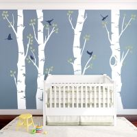Wide Birch Trees Wall Decal by Wallums Wall Decor.  Wallums are custom designed removable wall decals that are a terrific and inexpensive way to decorate your home, apartment, dorm room, office and more! Wallums wall decals are easy to install and 100% removable. #walldecals #wallpaper