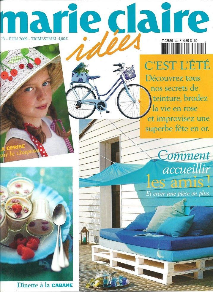 marie claire idees 73 2009 craft crochet sewing craft books quilt fabric toys. Black Bedroom Furniture Sets. Home Design Ideas
