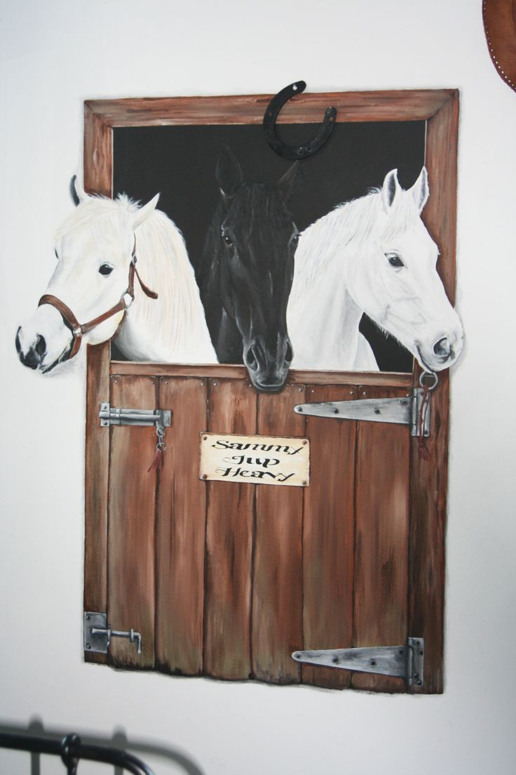 Paarden kamer. Jup, Heavy en Sammy!