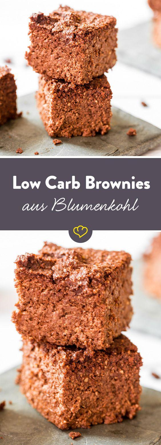 Süßes Gebäck aus Blumenkohl? Ja, das geht! Statt Weizenmehl dient fein zerschredderter Blumenkohl als Basis für deinen Brownie-Teig. Probier es aus!