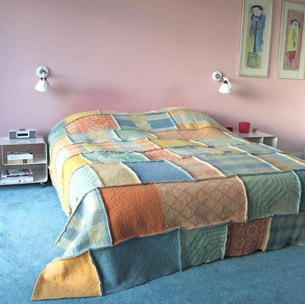vintage deken sprei, vintage plaid at www.vandestoep.nl