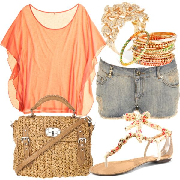 lovee it!!: Shoes, Summer Fashion, Fashion Ideas, Springoutfit, Colors, Summer Outfits, Peaches, Jeans Shorts, Spring Outfits