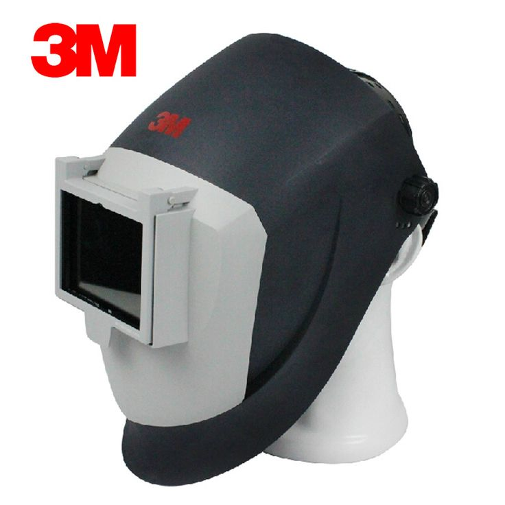 3M PS100 Argon Welding Mask Anti Fire Anti-splashing/Welding Arc/Cutting Sparks/Metal Droplets Silver Black Type GM0829