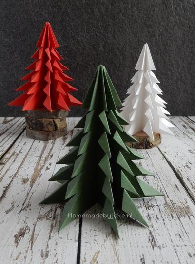 Bekijk de foto van Homemade By Joke met als titel Je kunt nu zelf deze papieren kerstbomen vouwen. Een duidelijke uitleg met stap-voor-stap foto's. staat op mijn blog Homemade by Joke. en andere inspirerende plaatjes op Welke.nl.