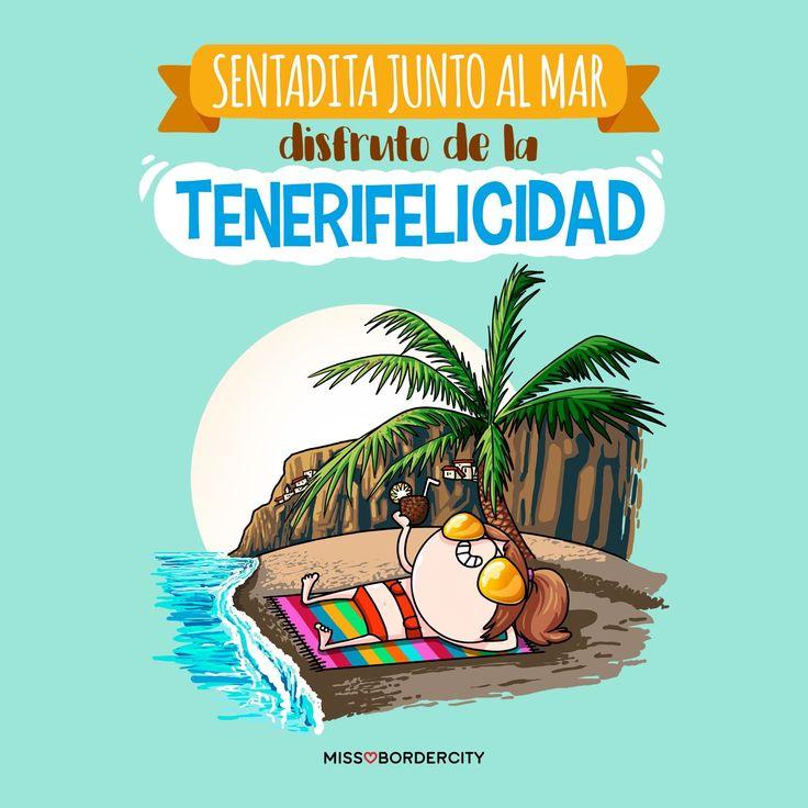 Sentadita junto al mar disfruto de la Tenerifelicidad!