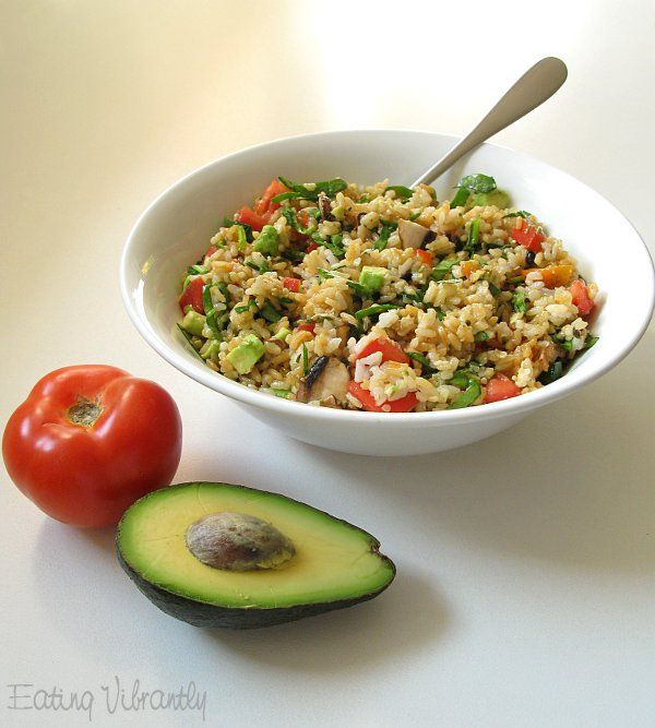 Eating Vibrantly: High raw vegan rice salad packed with raw veggies – satisfying and bursting with f…