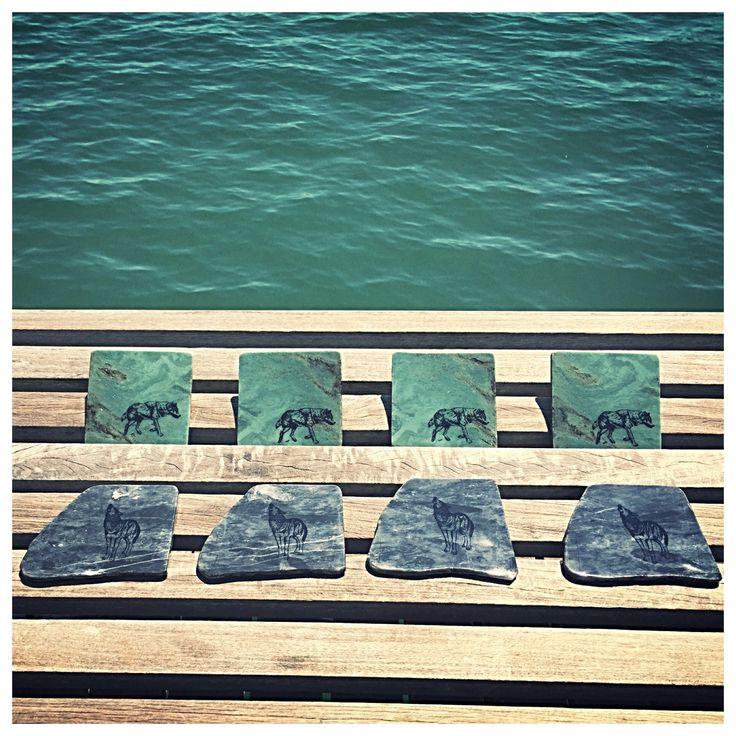 Sets on Slats - Madoc Rocks Natural Stone Coasters