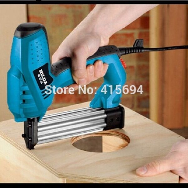 (53.30$)  Watch more here  - Efficiency fastest electric nail gun.Impact force adjustable,both U-nail T-dual.household power tool.