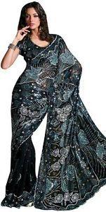 sari haute couture | Détails sur SARI HAUTE COUTURE INDIEN RADHIKA ROBE BOLLYWOOD MARIEE ...