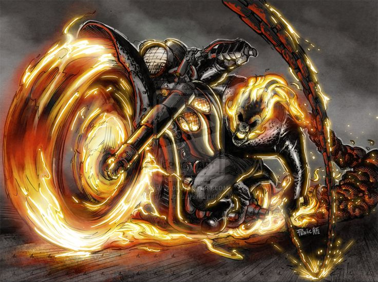 Ghost Rider 2 color by Fpeniche.deviantart.com on @deviantART