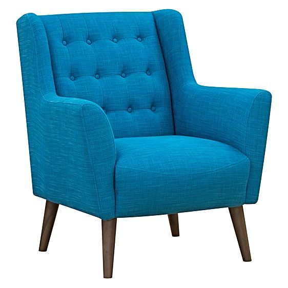 The Abel Teal Armchair from Zanui offers classic lounge features – deep-buttoned upholstery, high armrests, wide dimensions – all with the effect of creating an inviting and comfortable aesthetic in your living space.